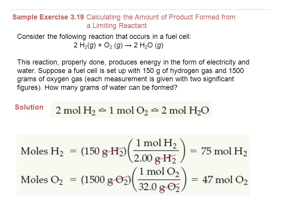 Sample Exercise 3.19 Calculating the Amount of Product Formed from
