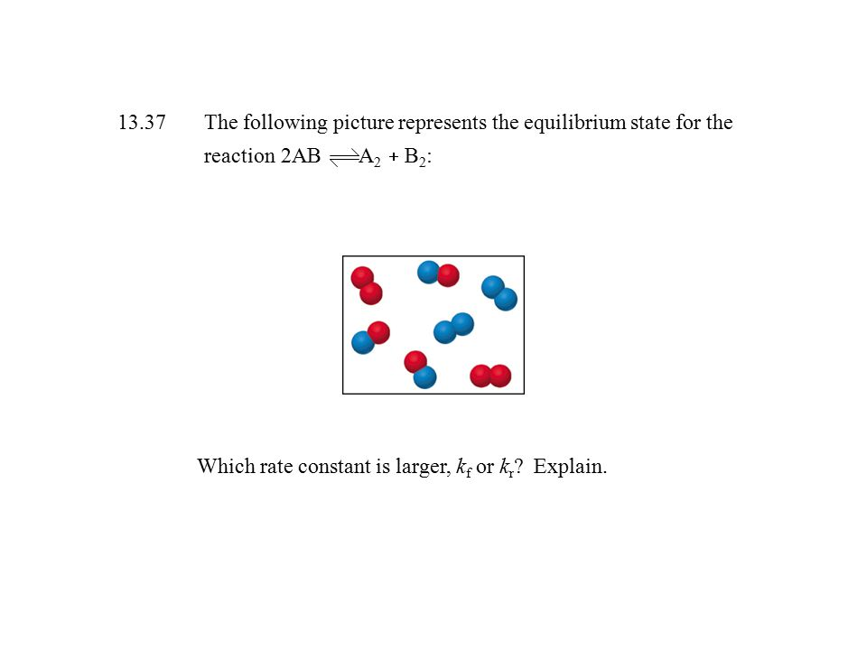 13. 37. The following picture represents the equilibrium state for the