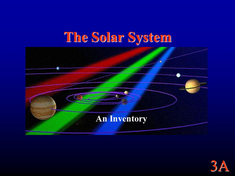 The Solar System An Inventory
