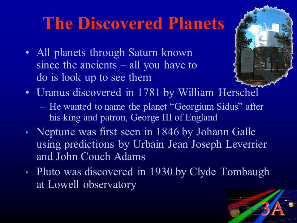 The Discovered Planets