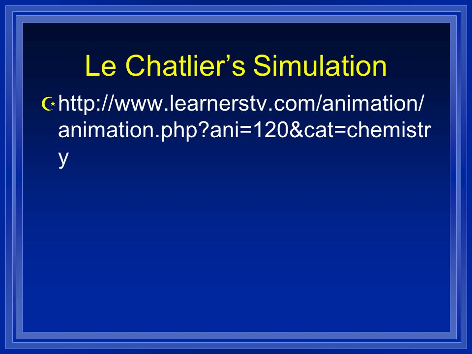 Le Chatlier's Simulation