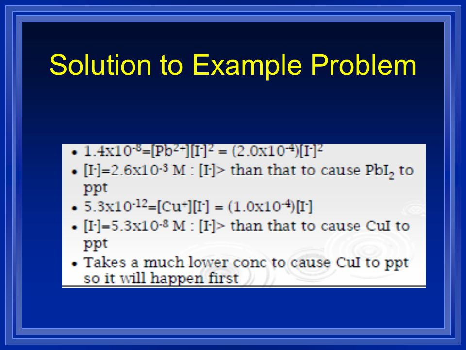 Solution to Example Problem