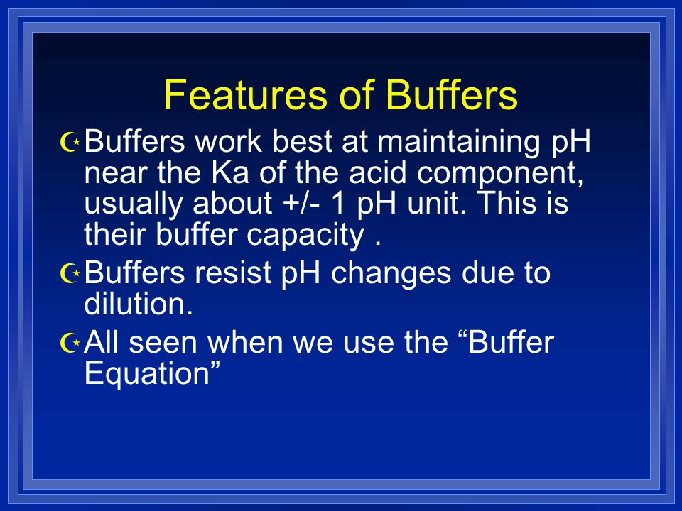 Features of Buffers