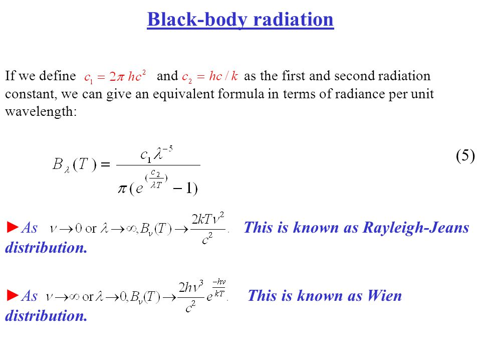 Black-body radiation (5)