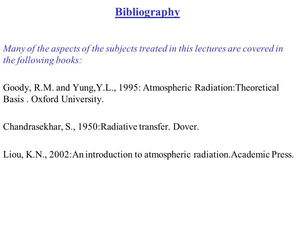 Bibliography Many of the aspects of the subjects treated in this lectures are covered in the following books: