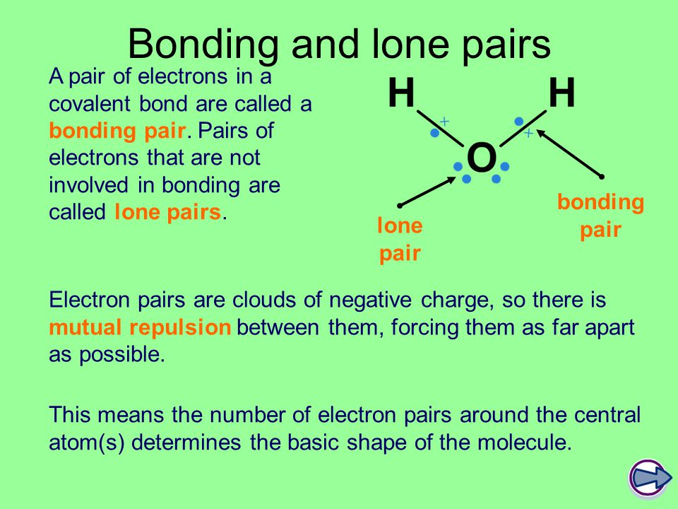 Bonding and lone pairs