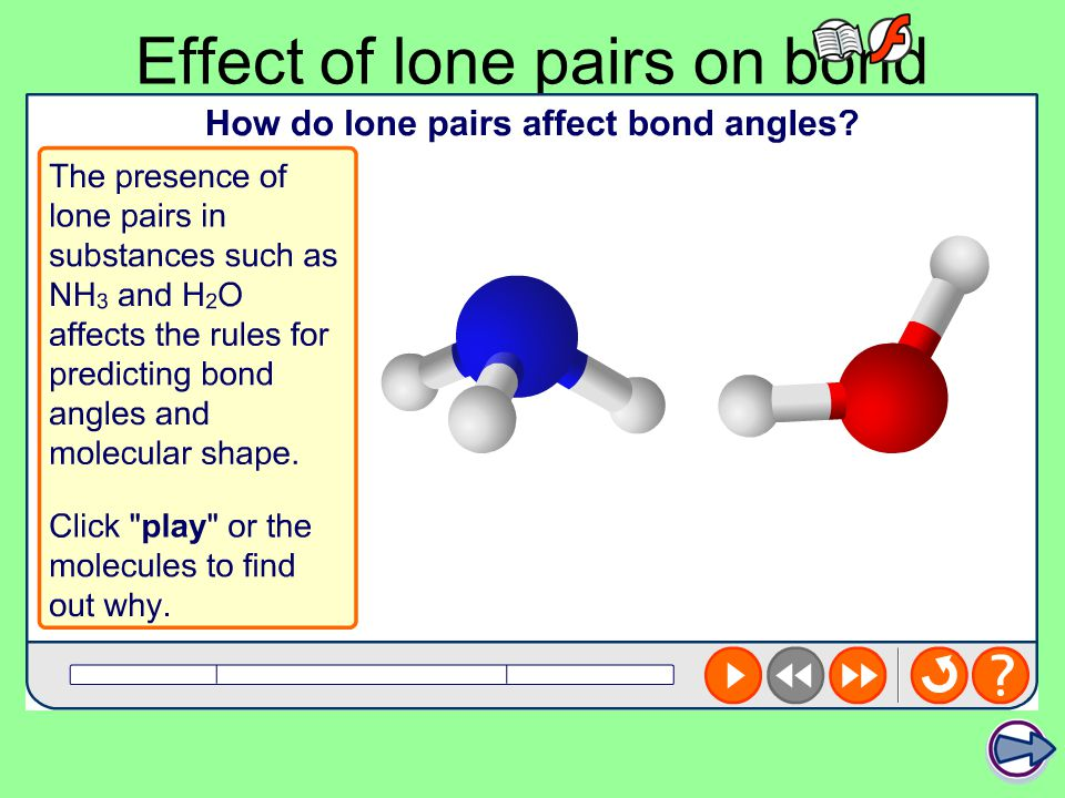 Effect of lone pairs on bond angles