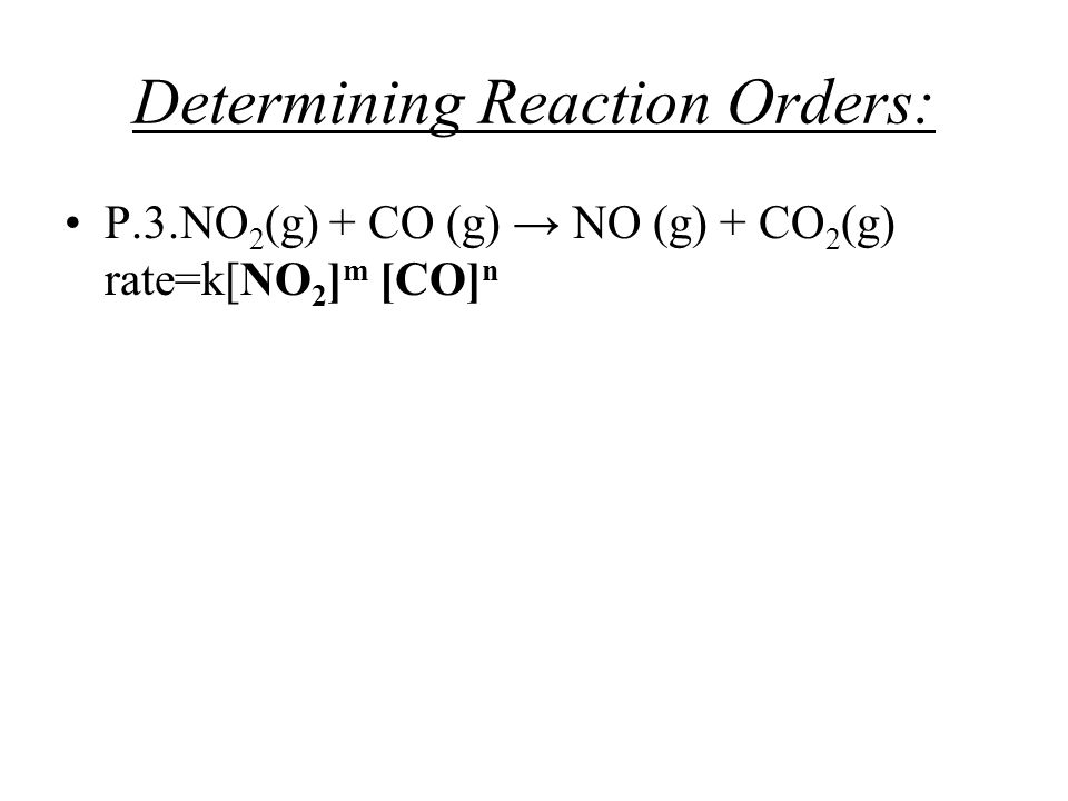 Determining Reaction Orders: