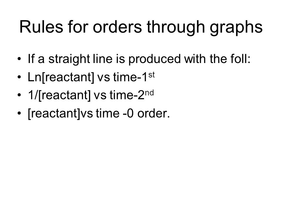 Rules for orders through graphs