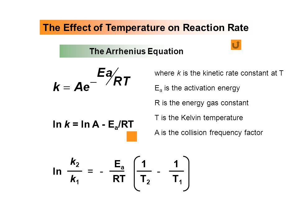 The Effect of Temperature on Reaction Rate