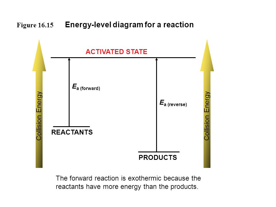 Energy-level diagram for a reaction