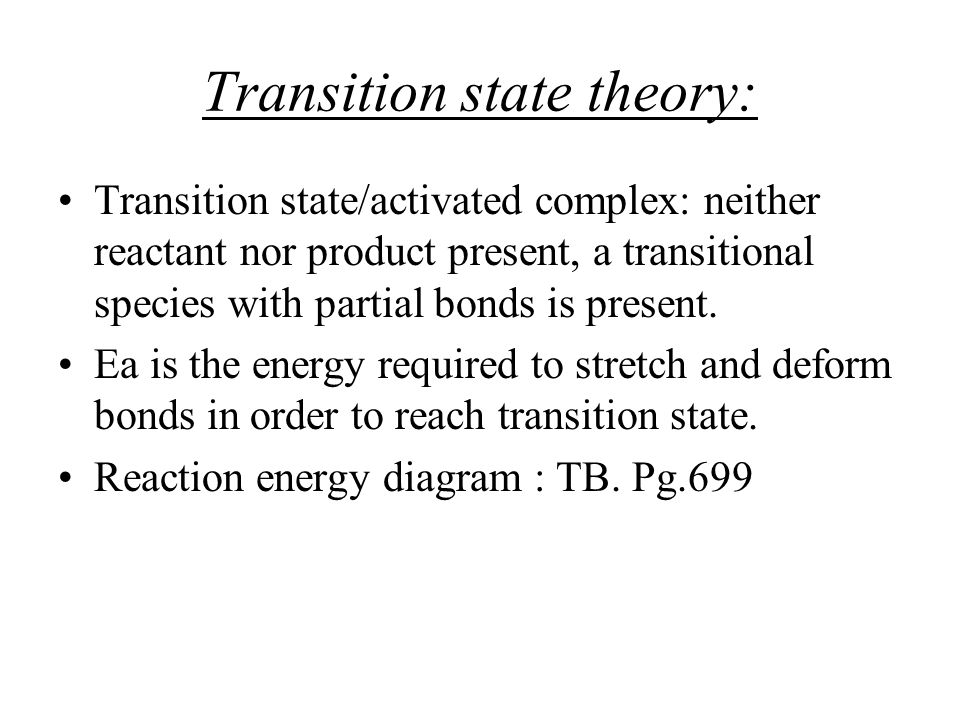 Transition state theory: