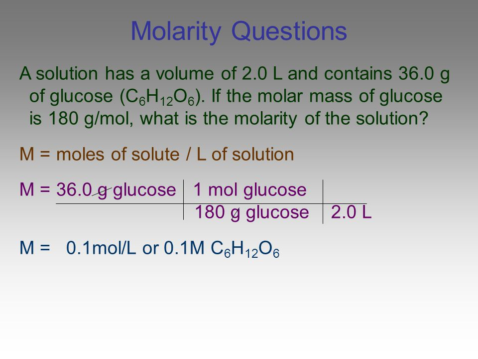 Molarity Questions