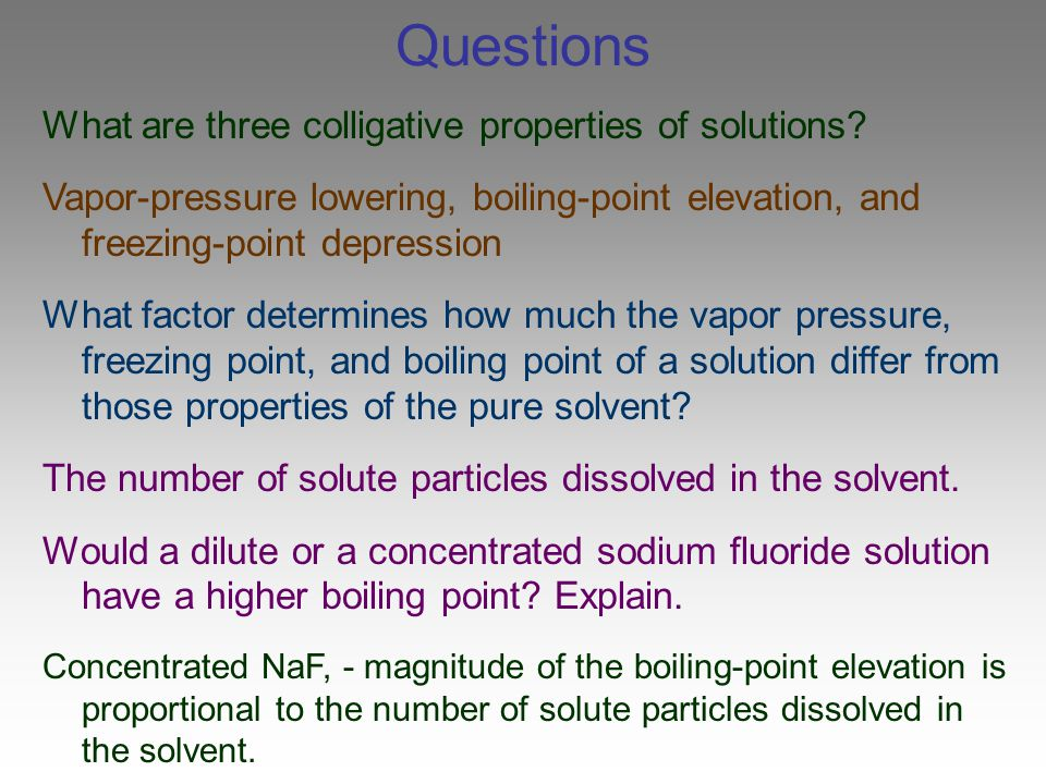 dilute solution and colligative properties pdf