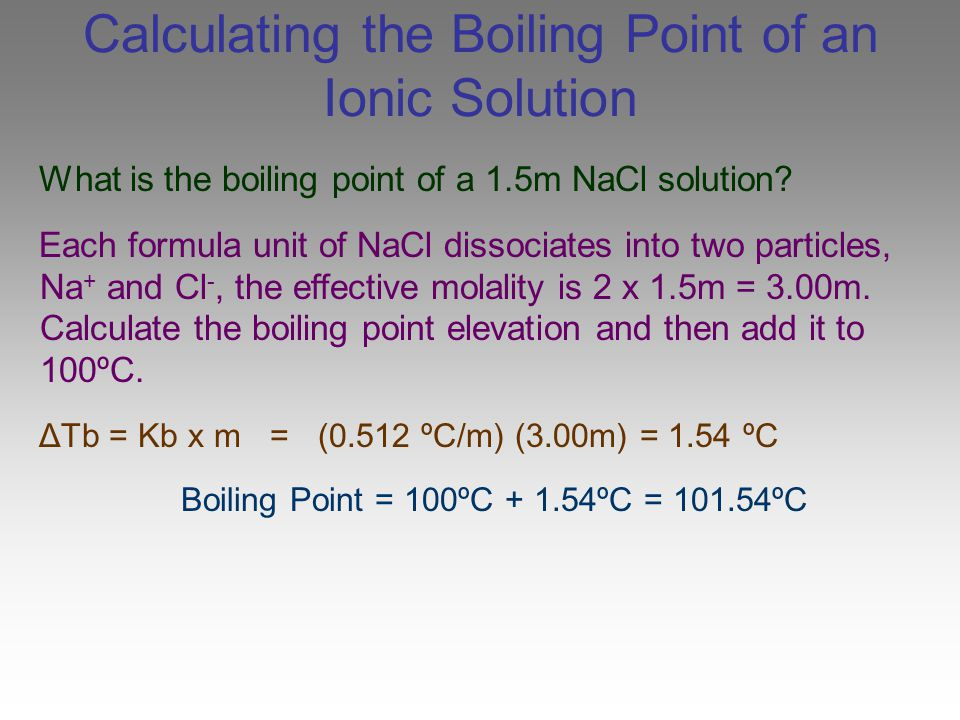 Calculating the Boiling Point of an Ionic Solution