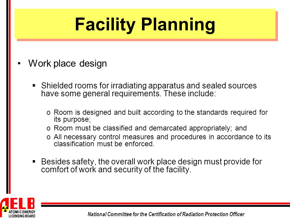 Facility Planning Work place design