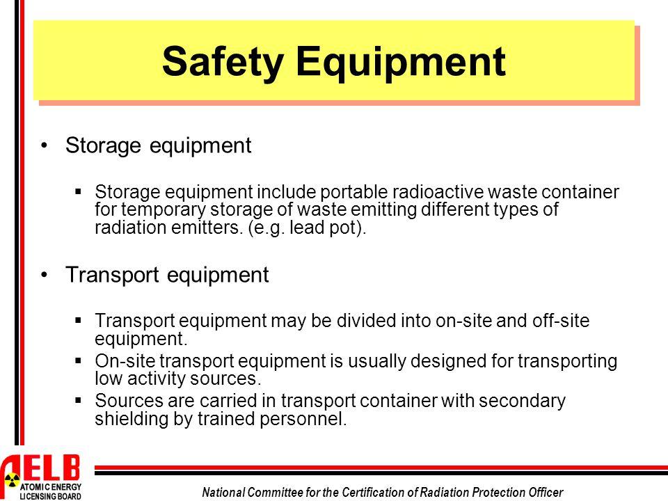 Safety Equipment Storage equipment Transport equipment