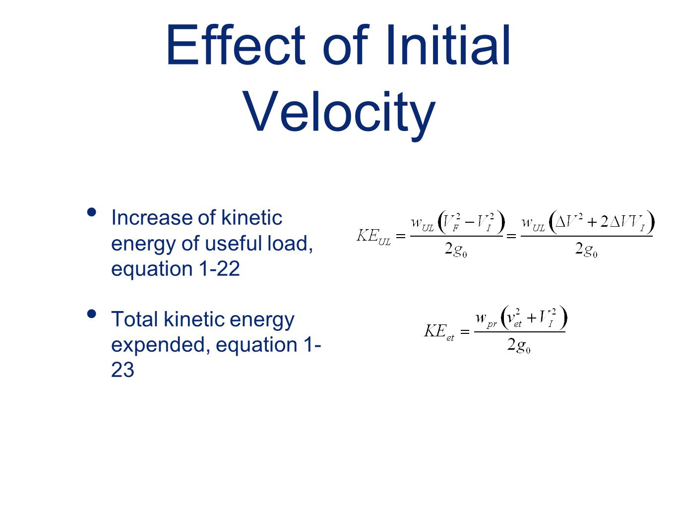 Effect of Initial Velocity