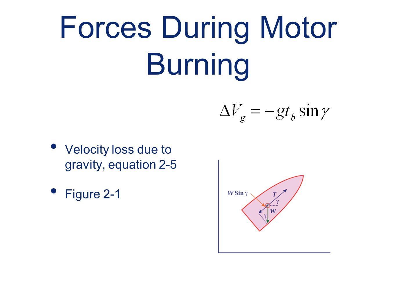 Forces During Motor Burning