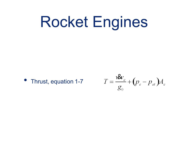 Rocket Engines Thrust, equation 1-7