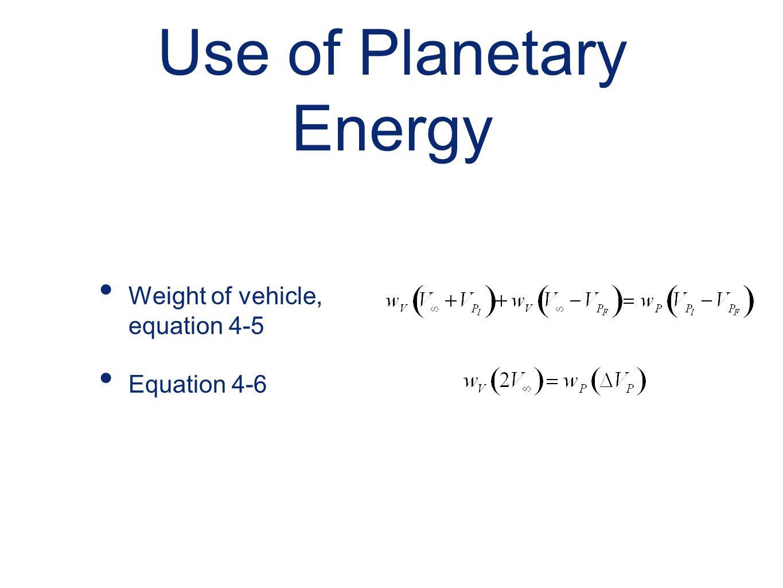 Use of Planetary Energy