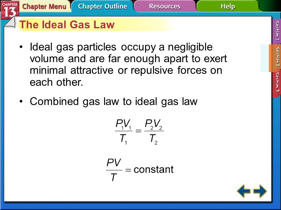 Combined gas law to ideal gas law