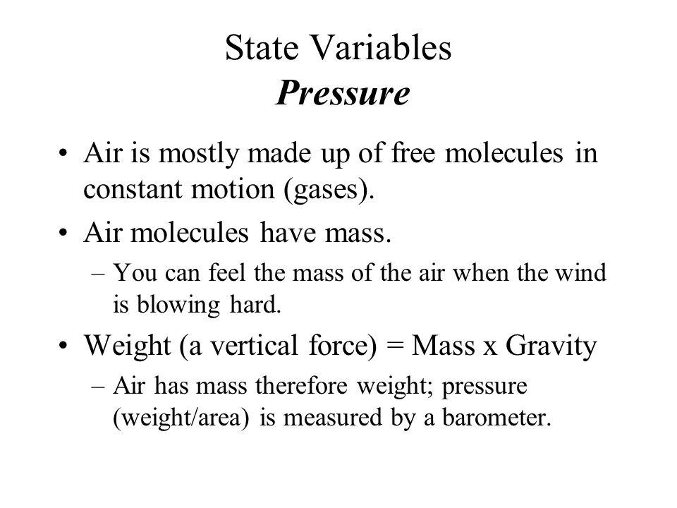 State Variables Pressure