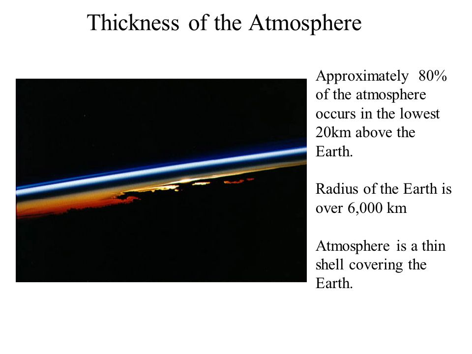 Thickness of the Atmosphere