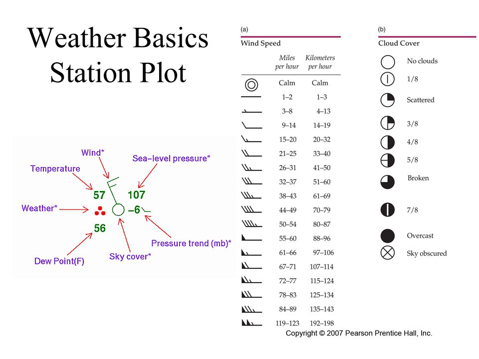 Weather Basics Station Plot