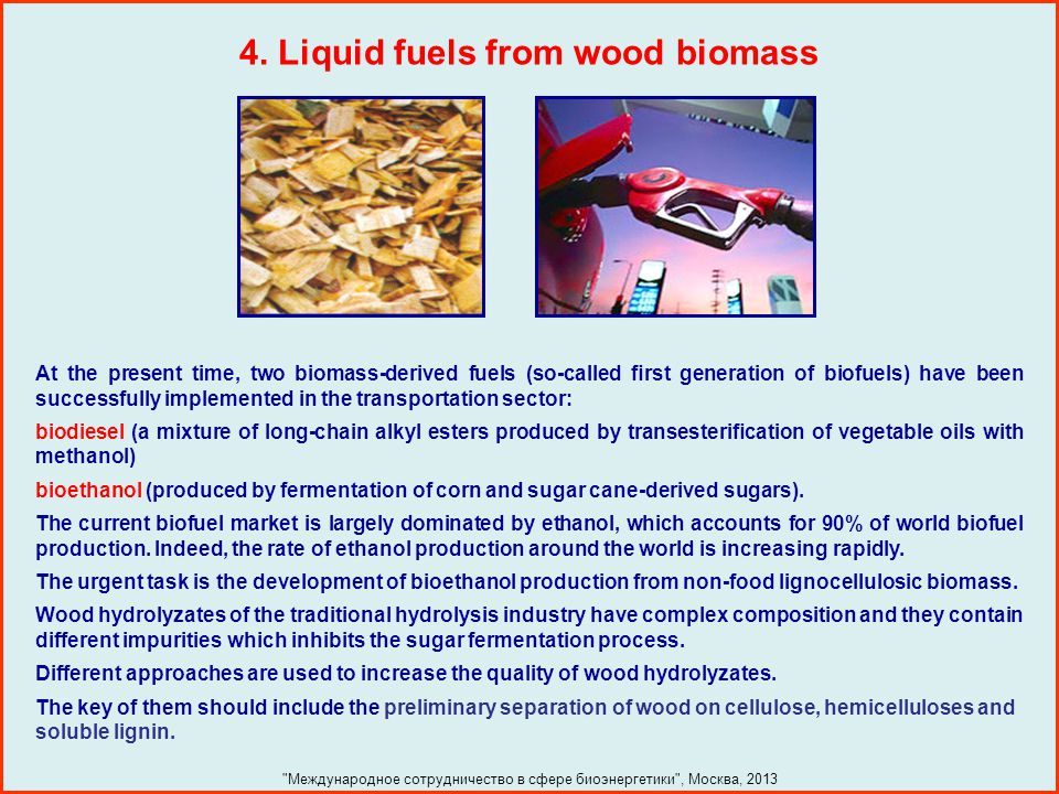4. Liquid fuels from wood biomass
