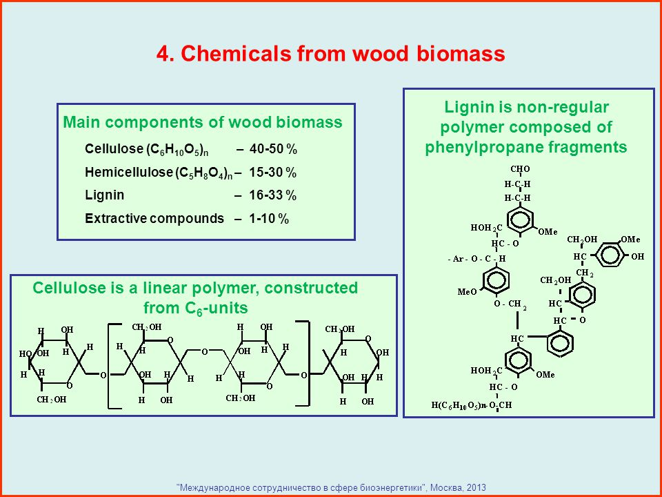 4. Chemicals from wood biomass