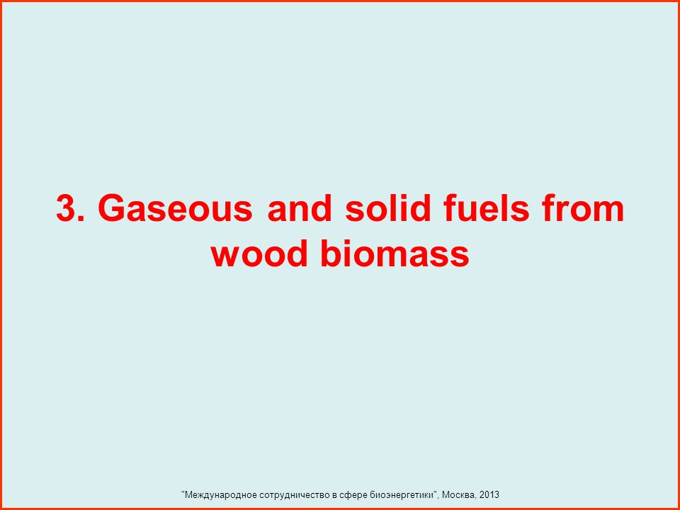 3. Gaseous and solid fuels from wood biomass