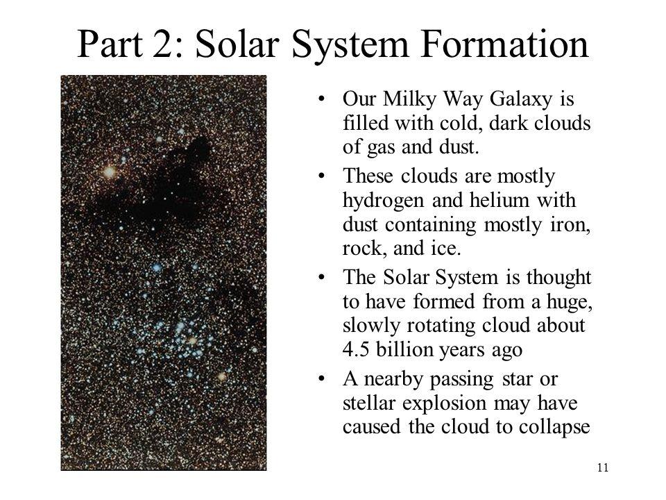 Part 2: Solar System Formation