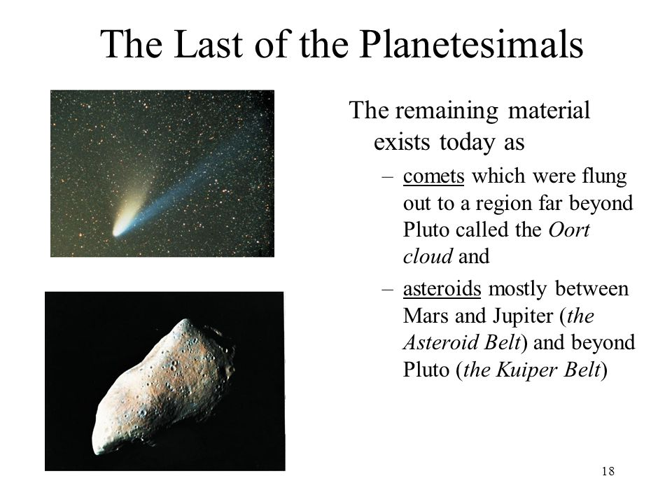 The Last of the Planetesimals