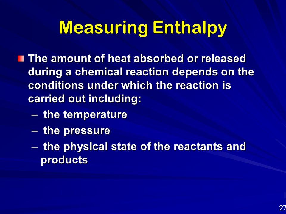 Measuring Enthalpy