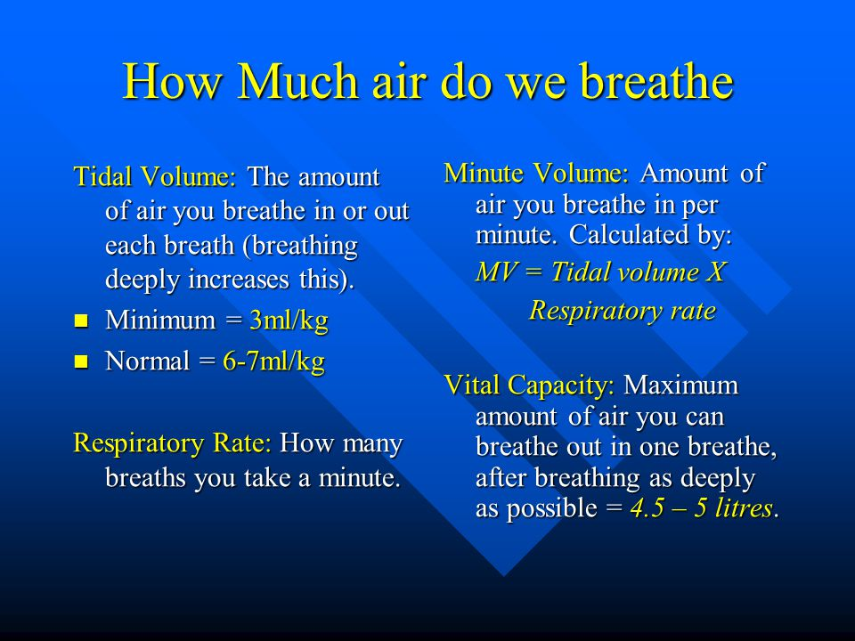 How Much air do we breathe