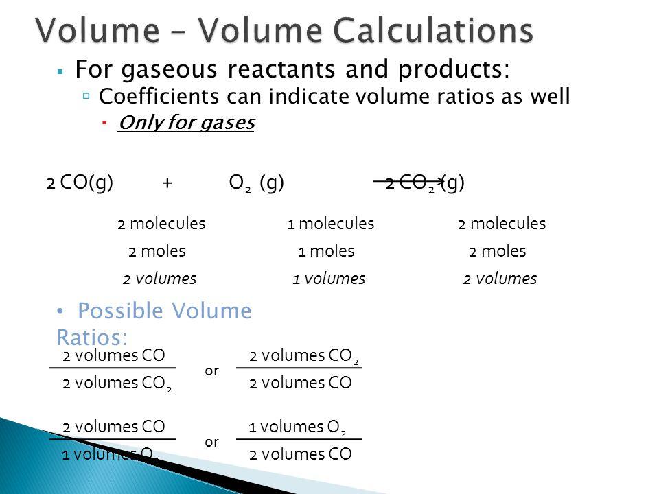 Volume – Volume Calculations