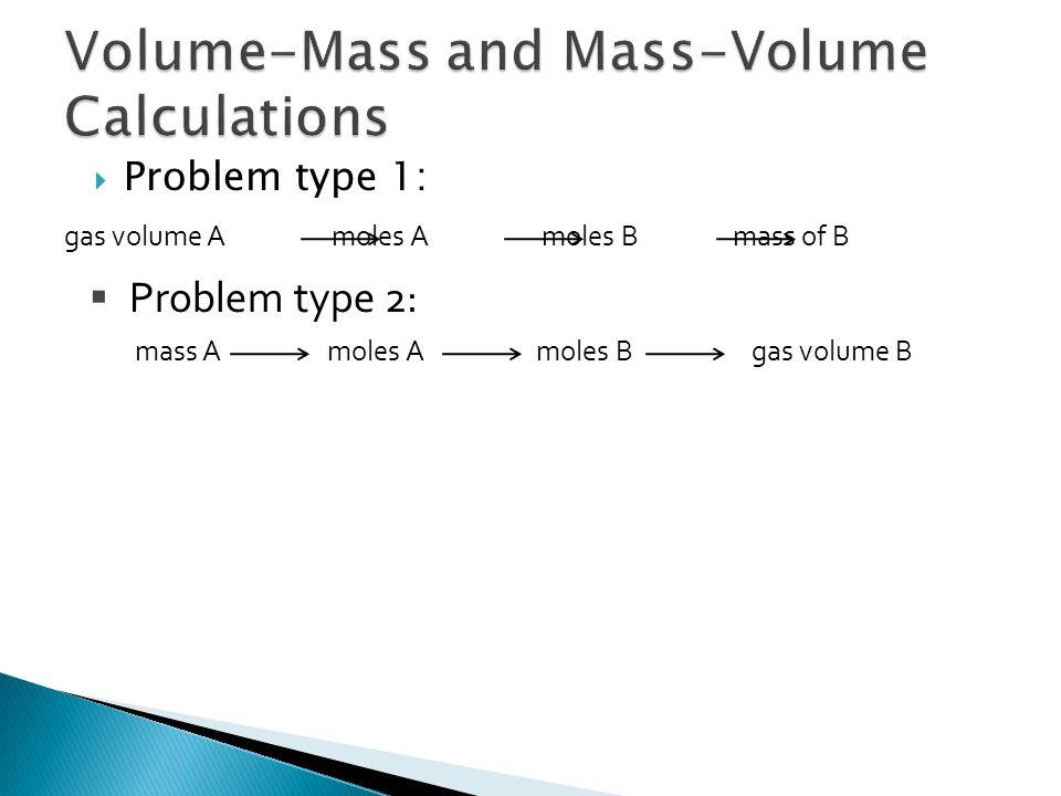Volume-Mass and Mass-Volume Calculations
