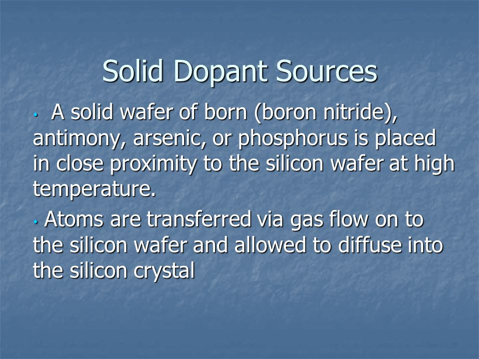Solid Dopant Sources