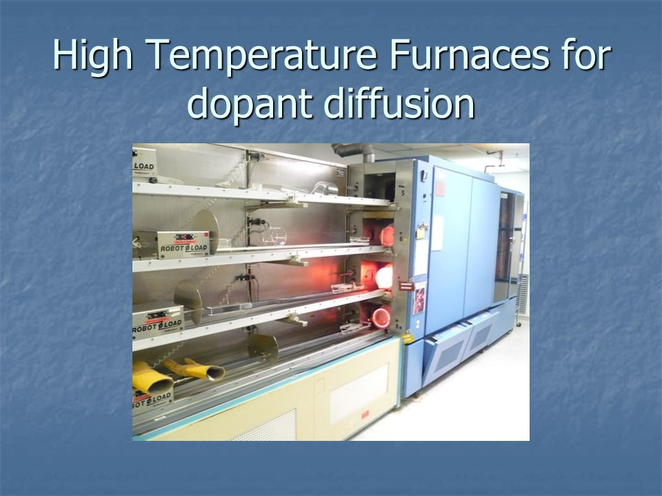High Temperature Furnaces for dopant diffusion