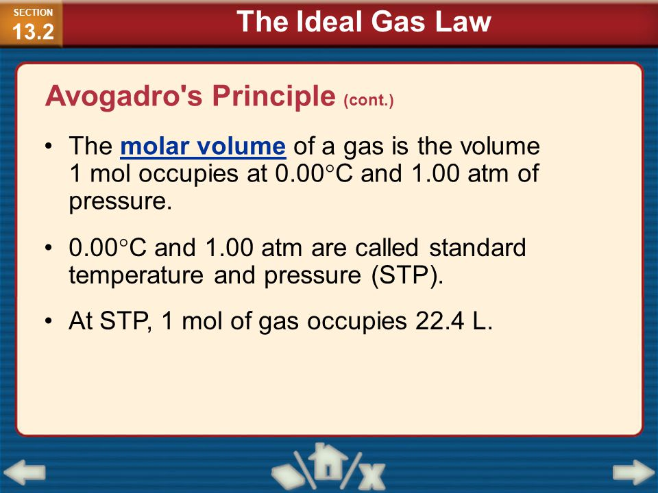Avogadro s Principle (cont.)