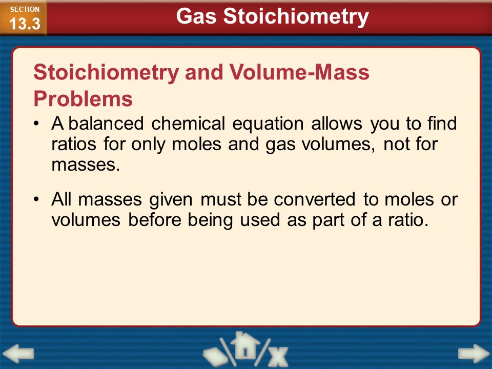 Stoichiometry and Volume-Mass Problems
