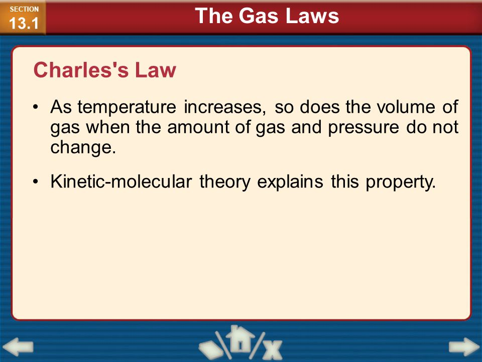 The Gas Laws Charles s Law