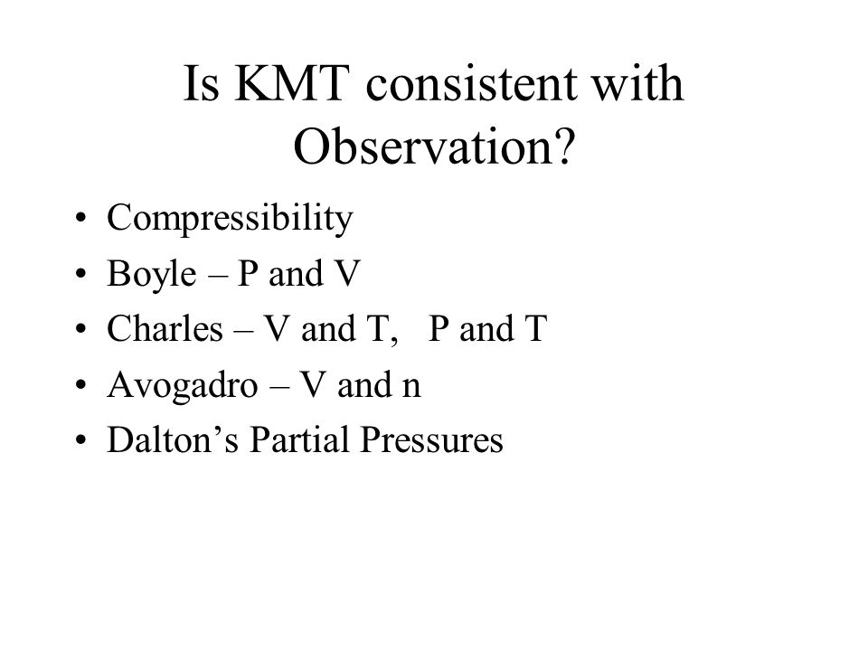 Is KMT consistent with Observation