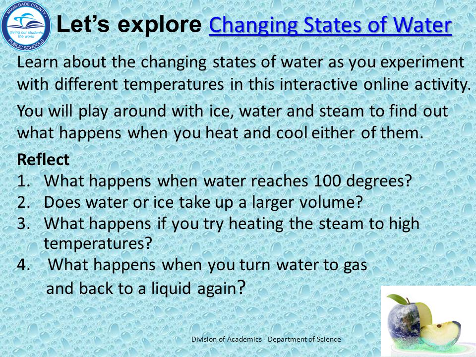 Let's explore Changing States of Water