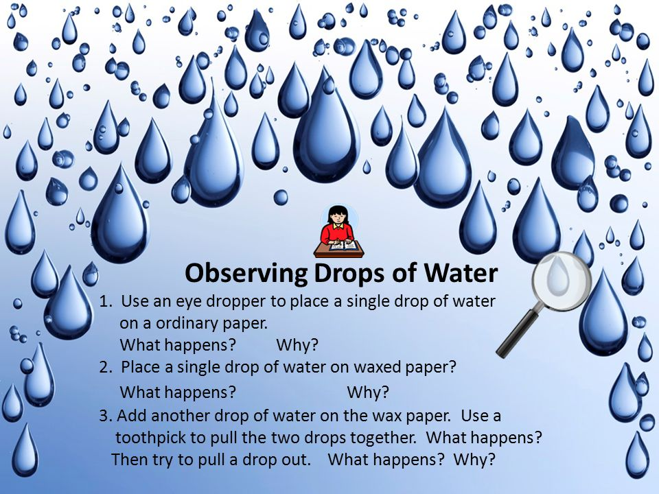 Observing Drops of Water