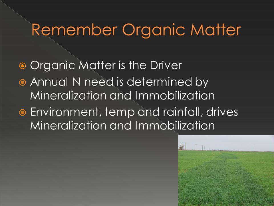 Remember Organic Matter