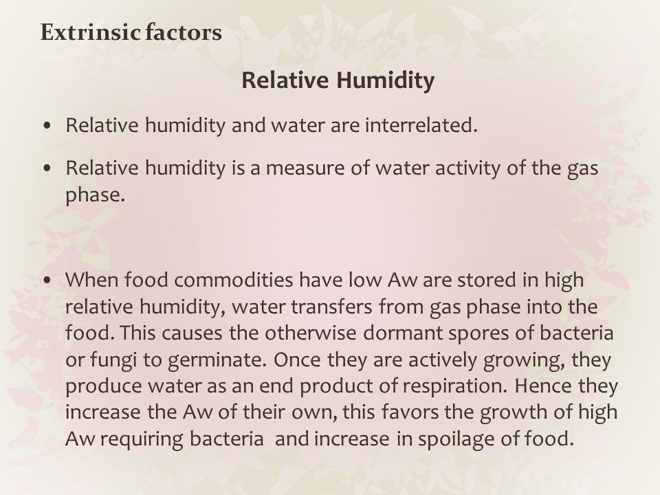 Relative Humidity Extrinsic factors
