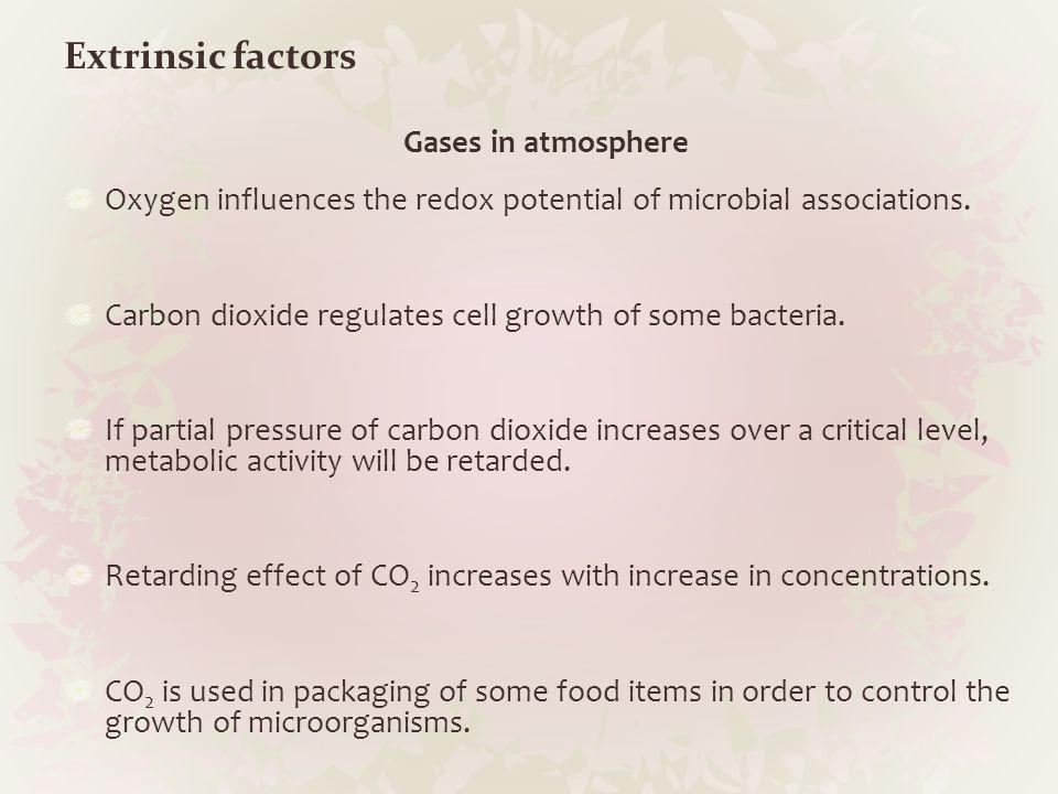 Extrinsic factors Gases in atmosphere
