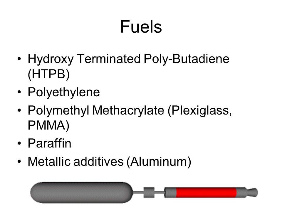 Fuels Hydroxy Terminated Poly-Butadiene (HTPB) Polyethylene